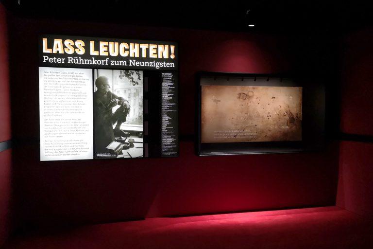 Eröffnung der Sonderausstellung »Laß leuchten, Peter Rühmkorf zum 90.« im Altonaer Museum in Hamburg am 21.08.2019