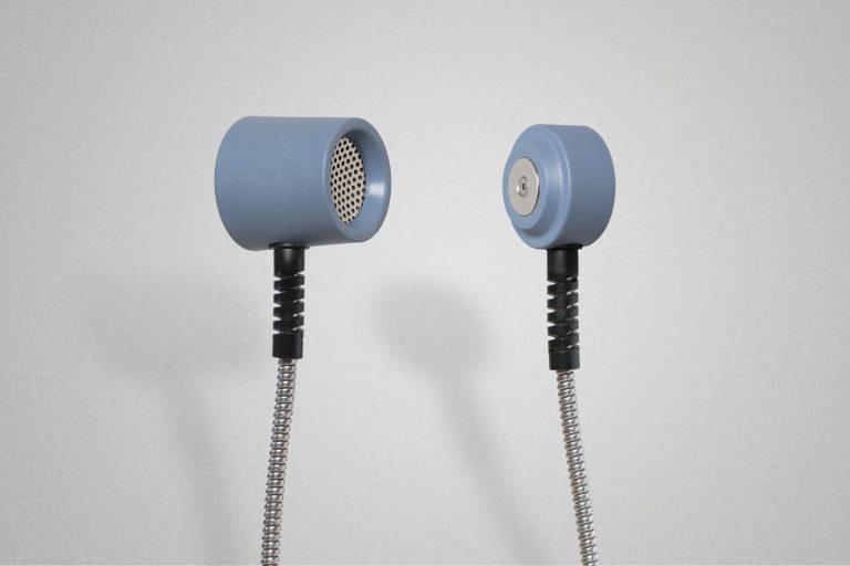Hörer und Basis des VIA antibakteriell in Taubenblau