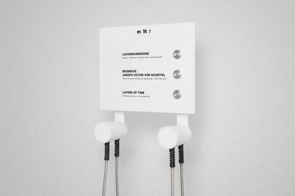 Hörstation AIO mit 3 Tastern und Text